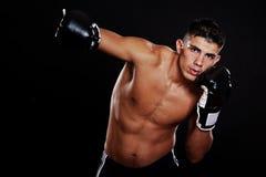拳击手讲西班牙语的美国人 库存图片