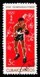 拳击手,第18次奥运会在东京,大约1964年 图库摄影