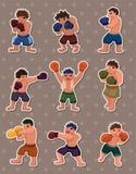 拳击手贴纸 免版税库存图片