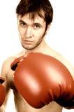 拳击手年轻人 免版税图库摄影