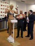 拳击手natascha ragosina 图库摄影