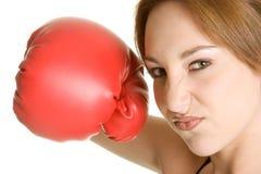 拳击炫耀妇女 免版税库存照片