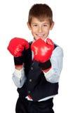 拳击生意人手套 免版税库存图片