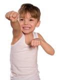 拳击男孩 免版税库存图片