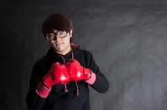 拳击男孩 库存照片