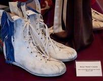 拳击鞋 免版税库存照片