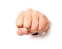 拳头纸张 免版税库存图片