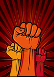 拳头革命 库存照片