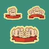 拳头动画片例证 库存图片