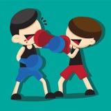 拳击动画片 免版税库存照片