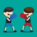 拳击动画片 库存图片