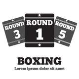 拳击台板 免版税库存图片