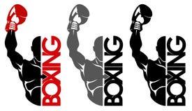 拳击商标 库存图片