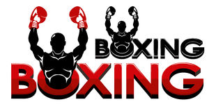 拳击商标 免版税库存照片