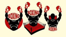 拳击商标 库存照片