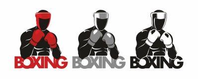 拳击商标 图库摄影