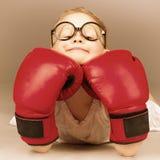 拳击孩子 库存照片