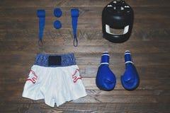 拳击成套工具 库存照片