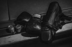 拳击成套装备 库存图片