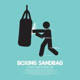 拳击手图形符号的沙袋 免版税库存图片