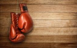 拳击手套垂悬 免版税图库摄影
