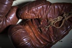 拳击手套葡萄酒 免版税库存照片