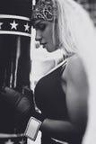 拳击手妇女 免版税图库摄影