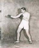 拳击手姿态 库存图片