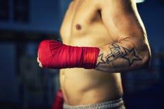 拳击手手 免版税库存照片