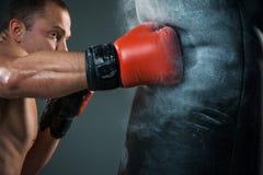 年轻拳击手拳击 免版税库存图片
