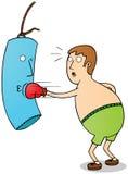 拳击手行使 库存图片