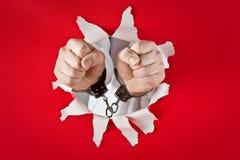 拳头手铐 免版税库存图片