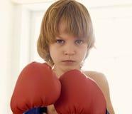 年轻拳击手 免版税库存图片