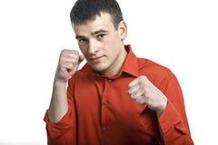 拳击机架 图库摄影