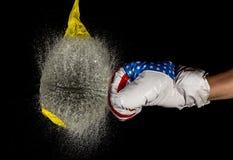 拳击水气球 库存图片