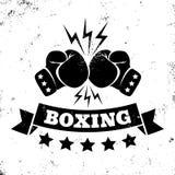 拳击的商标 免版税库存照片