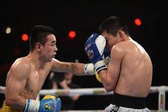 拳击联赛:乌克兰Otamans对俄国拳击队 库存照片