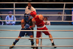拳击赛唯一作战 库存照片