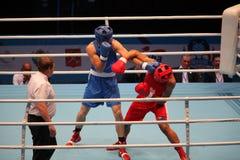 拳击赛拳头拳打 免版税图库摄影