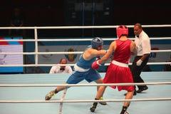 拳击赛接近 免版税图库摄影