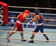 拳击赛攻击 图库摄影