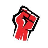 拳头风格化标志 图库摄影
