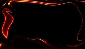 拷贝空间的液体波浪边界 五颜六色的边界纹理 库存例证