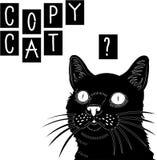 拷贝CAT盖子 皇族释放例证