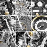 拼贴画分割摩托车 免版税库存图片