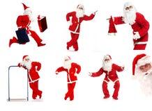 拼贴画圣诞老人 库存图片