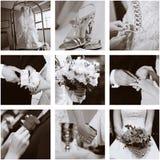 拼贴画婚礼 免版税图库摄影