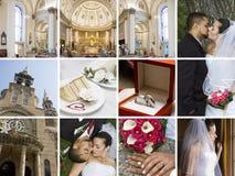 拼贴画婚礼 免版税库存图片