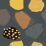 拼贴画当代抽象莓果无缝的黑暗的样式 库存例证