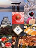 拼贴画日本地标 免版税库存照片